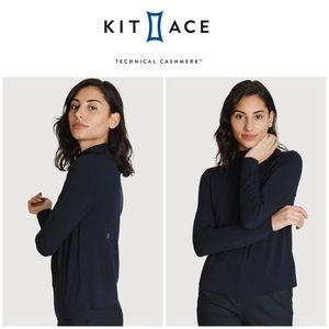 Kit and Ace Brushed Mock Neck Long Sleeve in Black